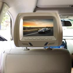 Автомобильный подголовник 1080P HD экран дисплей MP5 плеер Поддержка USB/SD воспроизведение/FM передача с молнией