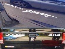 Para dodge dakota esporte caminhão 4x4 fora da estrada adesivo decalque de vinil conjunto gráfico completo