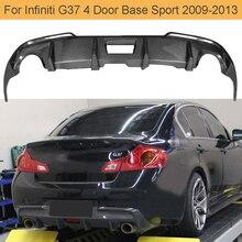 Автомобильный задний бампер из углеродного волокна, диффузор для губ, спойер для Infiniti G37, 4 двери, база, седан, СПОРТ 2009-2013, задний спойлер для автомобиля, Черный FRP