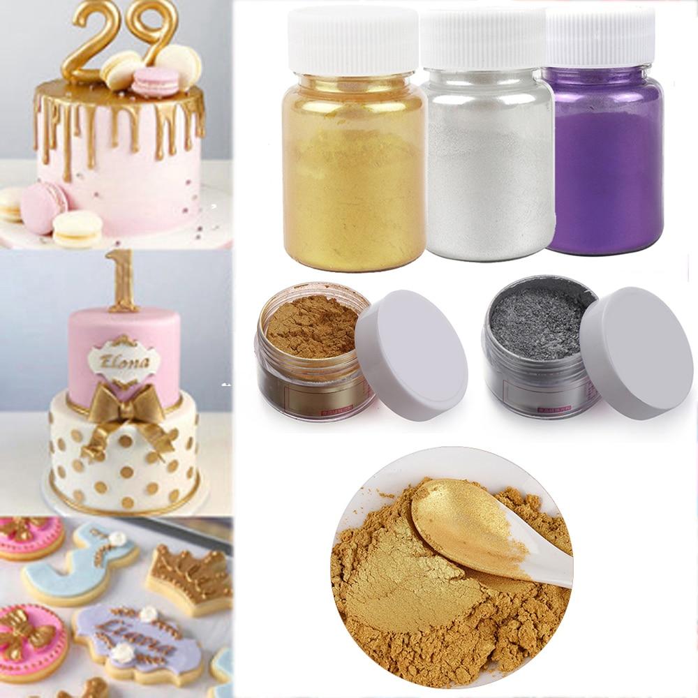 Mousse Cake Powder Cake-Decoration Macaron Silver-Pearl-Powder Chocolate Edible Glitter