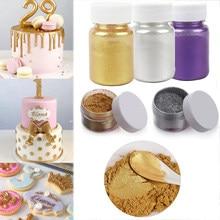 Poudre de décoration de gâteau à paillettes comestibles 5/15/70g, Mousse de gâteau Macaron chocolat, poudre Flash argent perle, poussière de couleur de cuisson