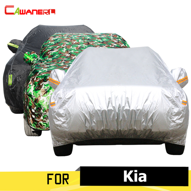 Cawanerl Car Cover Sun Rain Snow Protector Dustproof Cover Sunshade For Kia Cerato Sportage Soul Optima Ceed K9 Picanto Rondo