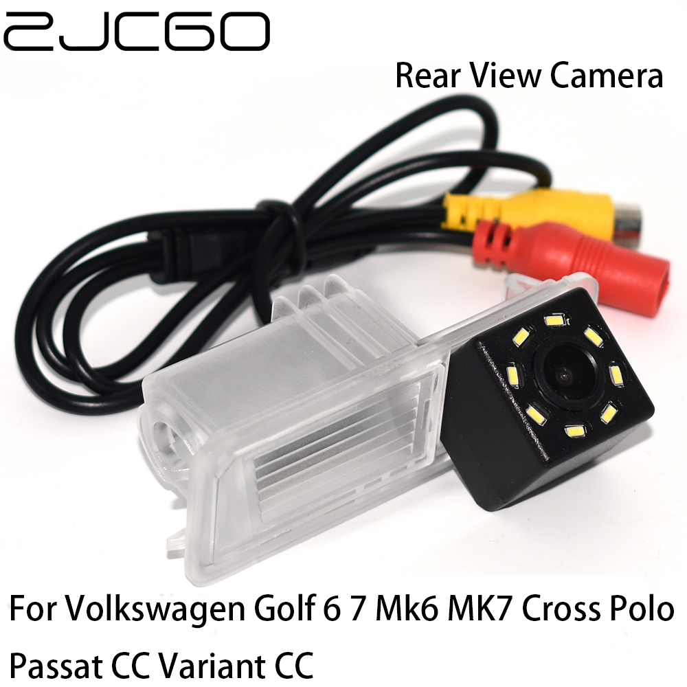ZJCGO CCD HD Car Rear View Reverse Back Up Parking Camera For Volkswagen Golf 6 7 Mk6 MK7 Cross Polo Passat CC Variant B6 B7