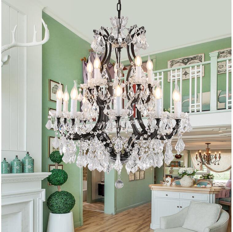 Free Shipping Nordic Loft Pendant Lamps Light Vintage Crystal Chandeliers Lustre E14 AC LED Lighting Kitchen Living Room Bedroom|Chandeliers| |  - title=