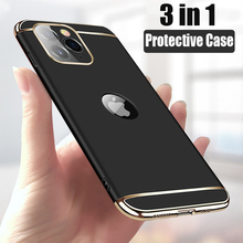 Luxury Plating 3 in 1 Phone Case For iPhone 12 11 Pro Max Shockproof Back Cover iPhone 5 5s se 6 6s 7 8 Plus X Xr Xs Max Case