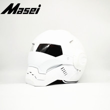 Masei 610 Iron Man helmet motorcycle Vintage Retro helmet Colourful open face helmet casque Motocross Off Road Touring helmet masei 610 top abs moto biker helmet ktm iron man personality special fashion half open face motocross helmet matt black