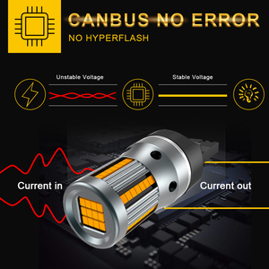 Image 4 - 2x 3200Lm T20 7440 Canbus Error Free No Hyper Flash Super Bright Amber Yellow Wy21W 7440NA LED Bulbs for Turn Signal Light only