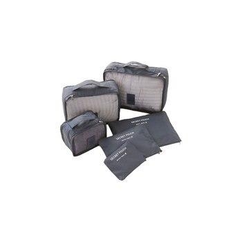 6 unids/set de accesorios de viaje impermeables para hombre y mujer estuche organizador portátil de viaje de poliéster