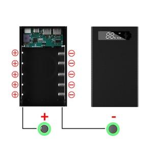5*18650 Блок питания для самостоятельной сборки, держатель для аккумулятора 18650, чехол с поддержкой QC3.0, быстрое и беспроводное зарядное устройство, корпус для зарядки, коробка для хранения, съемный| |   | АлиЭкспресс