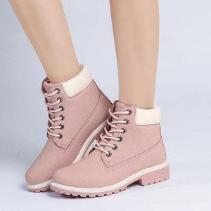 Image 3 - 2019 ผู้หญิงฤดูหนาวข้อเท้าหิมะรองเท้าบูทหญิงขนสัตว์ Plush พื้นรองเท้าแพลตฟอร์มรองเท้าสีดำ Lace Up รองเท้าผู้หญิง Botas mujer