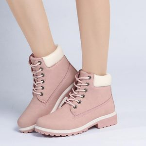 Image 3 - 2019 Women Winter Ankle Snow Boots Female Warm Fur Plush Insole Platform Boots Black Lace Up Shoes For Women Botas Mujer