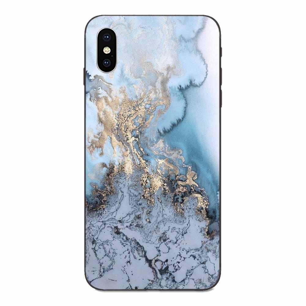 Black And Rose Gold Marble Split TPU Art Print For Galaxy A3 A5 A6 A6s A7 A8 A9 A10 A20E A30 A40 A50 A60 A70 A80 A90 Plus 2018