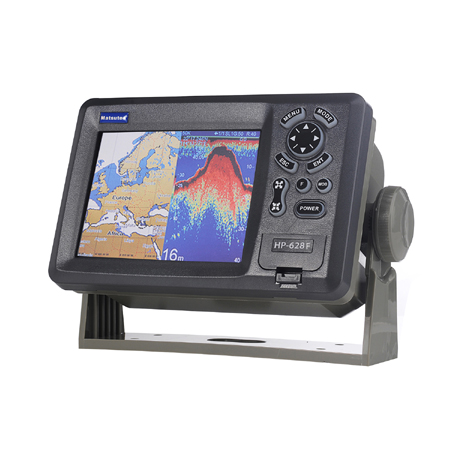 Matsutec HP-628F marine color lcd plotter echo sounder fish finder 300W dual frequency 5.6'' GPS SBAS Navigator navicom