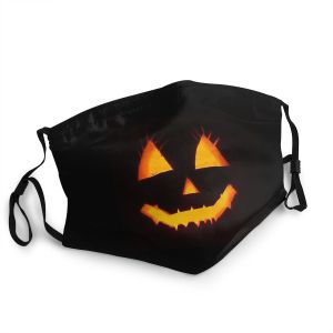 Pumpkin Jack O Lantern Face Mask Adult Non-Disposable Face Mask Anti Dust Protection Respirator Mask