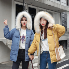 Diwish Sisters Winter Jacket with Fur Hooded Women Plus Size 3XL Casual Thick Parka 2019 Korean Female Warm Coat Outwear