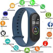 M4 Bluetooth montre intelligente Bracelet étanche fréquence cardiaque moniteur de pression artérielle Fitness Tracker Bracelet Smartwatch 2020 M5 hommes