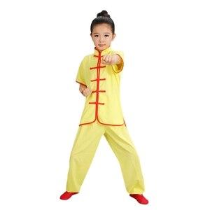 Image 3 - 판매 Wushu 제복 아이들 중국 전통 의류 아이 무술 제복 Kung Fu 한 벌 여아 소년 단계 성과 세트