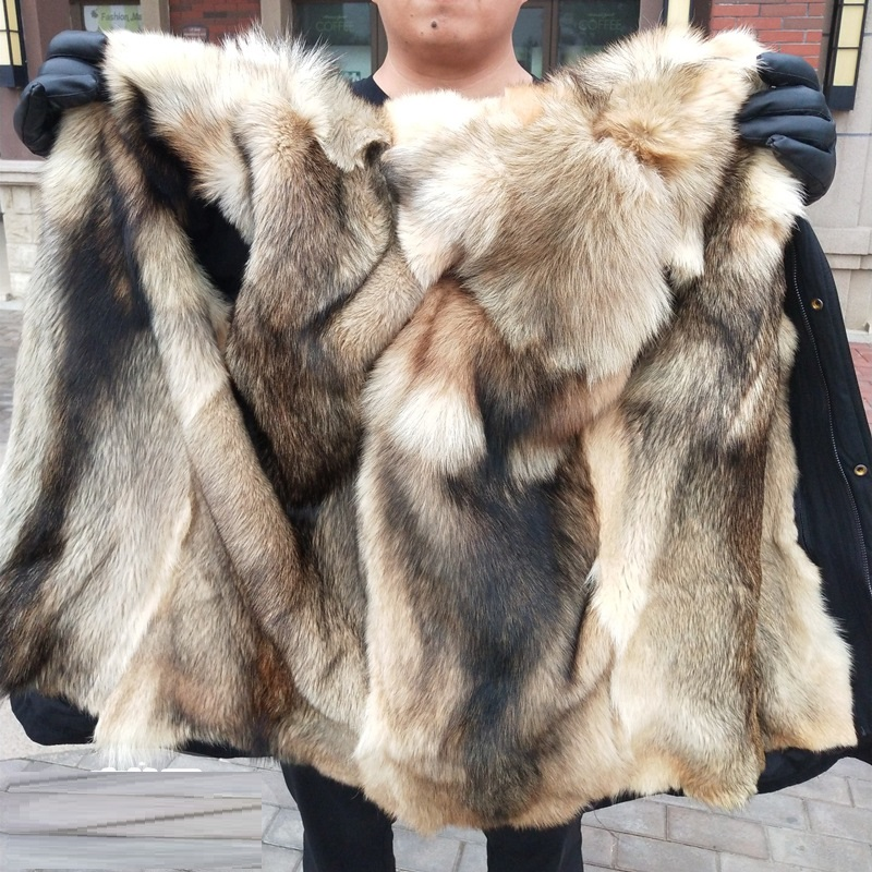 H3478c628554c4cdd93751523170ec818z Batmo winter wolf fur liner hooded jacket men, winter warm parkas men plus-size L-5XL
