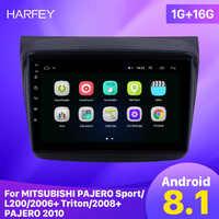"""Harfey samochodowy odtwarzacz multimedialny 2din 9 """"Android 8.1 radio samochodowe z gps-em dla MITSUBISHI PAJERO sport/L200/2006 + Triton/2008 + PAJERO 2010"""