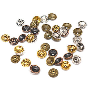 5mm 200pcs Tibetan Silver Plated Flower End Beads Caps Charms  Jewelry Making Supplies Zinc Alloy Small Bead Caps hot 10pcs zinc alloy plating silver plum flower deer