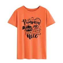 halloween shirts women 2018 tops plus size mama pumpkin print casual japanese vintage 2019 streetwear tees