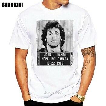 First Blood John J Mug Shot 10-22-1982 Adult T-Shirt for Men S-3XL male brand teeshirt men summer cotton t shirt 1