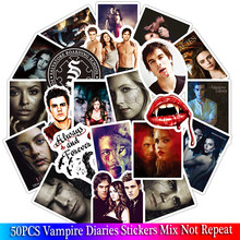 50 Buah/Lot The Vampire Diaries Fans Hadiah Dekorasi Stiker Set untuk Diy Scrapbooking Album Bagasi Laptop Ponsel Stiker(China)
