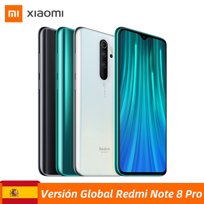 "Global Version Xiaomi Redmi Note 8 Pro 6GB 64GB Smartphone 64MP Quad Cameras MTK Helio G90T Octa Core 6.53"" 4500mAh Battery NFC"