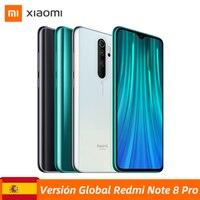 """Version mondiale Xiaomi Redmi Note 8 Pro 6GB 64GB Smartphone 64MP Quad caméras MTK Helio G90T Octa Core 6.53 """"4500 mAh batterie NFC"""