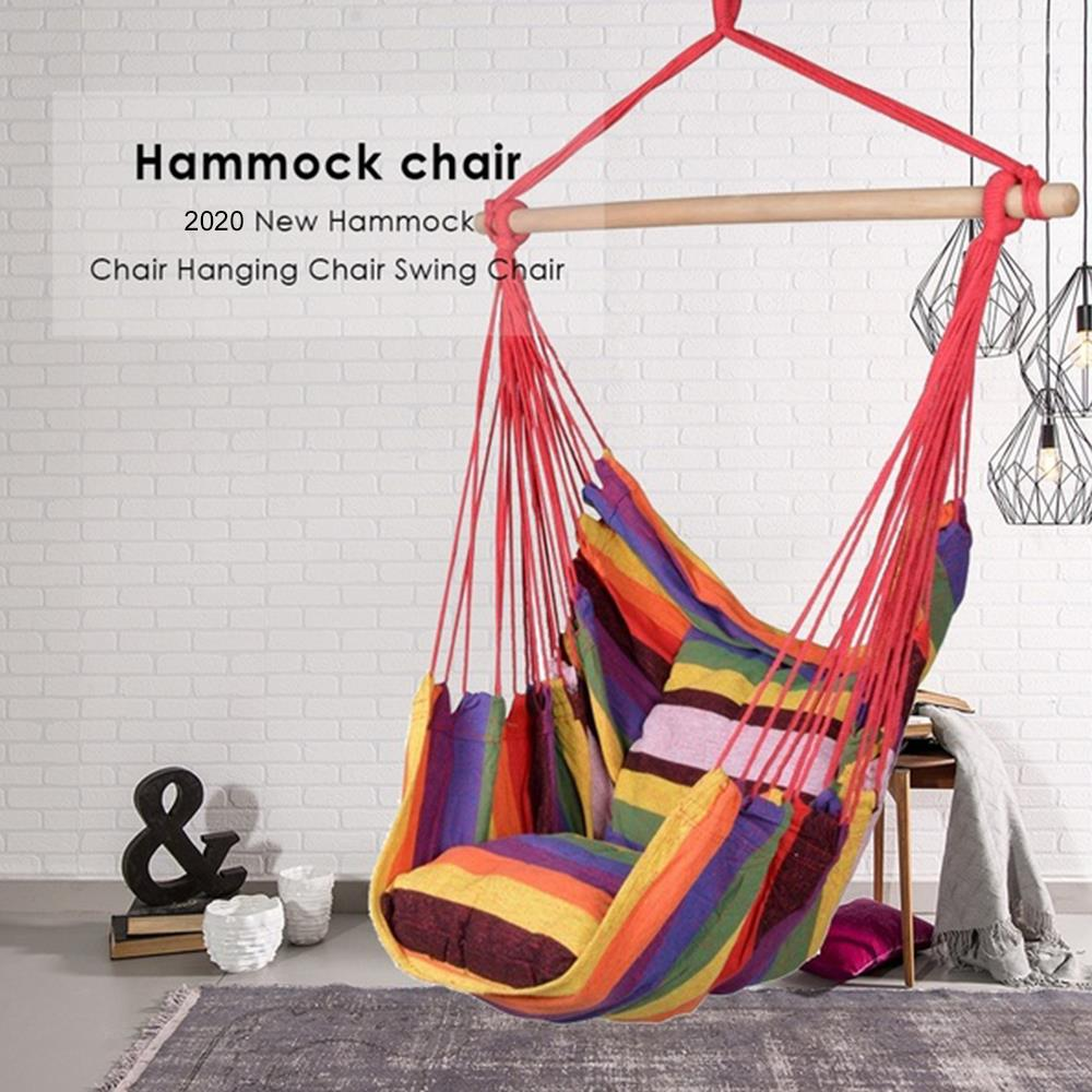 150kg Hammock Garden Hang Lazy Chair Swinging Indoor Outdoor Furniture Hanging Rope Chair Swing Chair Seat bed Travel Camping|Hammocks| - AliExpress