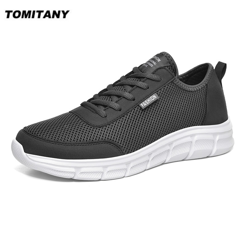 New Mesh Men Shoes Lac-up Casual Shoes Men Sneakers Breathable Lightweight Footwear Comfortable Sport Trainers Zapatillas Hombre