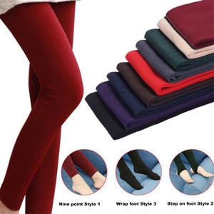 Leggings Brushed-Lining Fleece Pants Stretch Thick Autumn High-Elasticity Winter Women