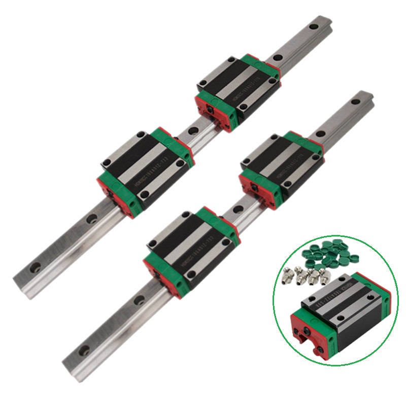Image 3 - 2pc HGR20 HGH20 Square Linear Guide Rail ANY LENGTH+4pc Slide Block Carriages HGH20CA/flang HGW20CC CNC Router Engraving-in Linear Guides from Home Improvement