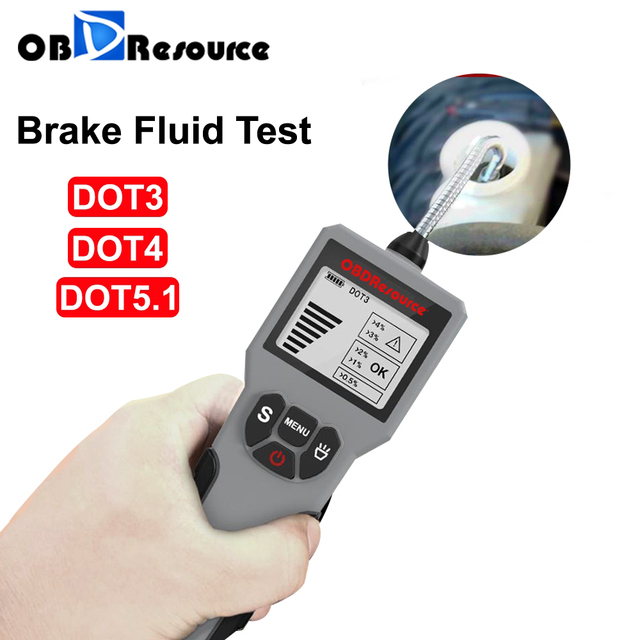 Brake Fluid Tester DOT 3/4/5.1 LED Display Water Content Detector Sports Car Motorcycle BF100 BF200 Oil Quality Test Tool