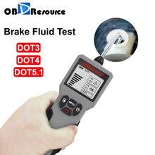 Testador de fluido de freio para DOT 3/4 / 5.1 Display LED Detector de conteúdo de água Carro esporte motocicleta OBDResource BF100 BF200 Ferramenta de teste de qualidade do óleo