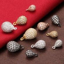 ZHUKOU 6x11 мм многоцветная кубическая форма из латуни с цирконами слез Подвески для ручной работы Diy ожерелье и серьги ювелирные изделия Модель: VD374
