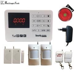 HuilingyiTech System alarmowy do domu sterowanie za pomocą ekranu dotykowego Alarm biznesowy System ochrony przed włamaniem