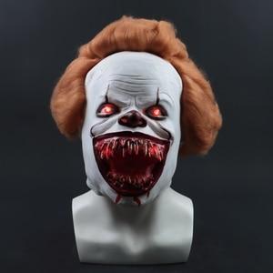 Image 2 - 2019 ใหม่ Pennywise หน้ากาก Led Latex Stephen King It 2 Joker หน้ากากหมวกกันน็อกฮาโลวีน Party Dressed น่ากลัวอุปกรณ์เสริม Prop 3 ประเภท