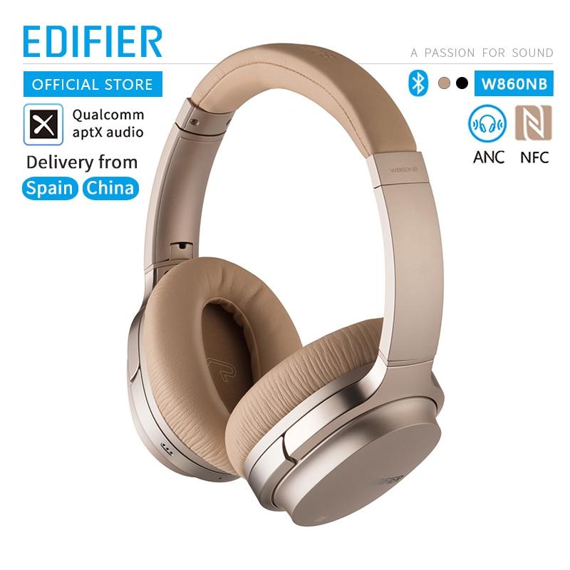 Edifier w860nb anc suporte nfc emparelhamento e aptx decodificação de áudio sem fio fones de ouvido bluetooth toque inteligente