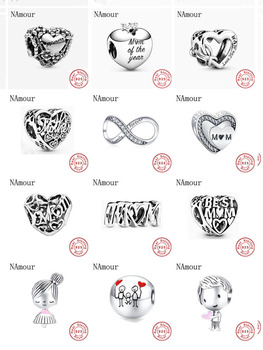 2020 New Mom Family Forever Girl Boy Bead Fit Original Pandora Charms Silver 925 Bracelet Necklace Trinket Jewelry For Women
