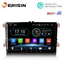 "Erisin ES6991V 9 ""Android 10.0 araba Stereo DAB + Navi GPS OBD VW Golf 5 için Passat Tiguan Polo eos Skoda"