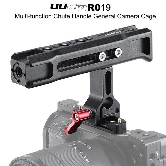UURig R019 общая ручка скольжения с 1/4 и 3/8 резьбовыми отверстиями крепление для холодного башмака для монитора Sony Nikon камер