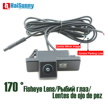 Car Rear View Camera Fisheye Lens 170 Degree Wide View Angle No Parking Line HD Night Vision For Citroen C4 C5  Peugeot 307 CC elp 8mp sony imx179 hd wide angle 180degree fisheye lens industrial machine vision webcam camera module andorid linux windows