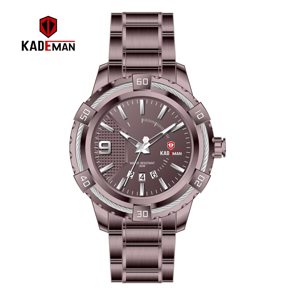 Image 4 - KD6173L Top Luxury Brand Kademan New Womens Business Watch Full Steel Strap Fashion Lady Quartz Calendar Wristwatch WaterproofWomens Watches   -