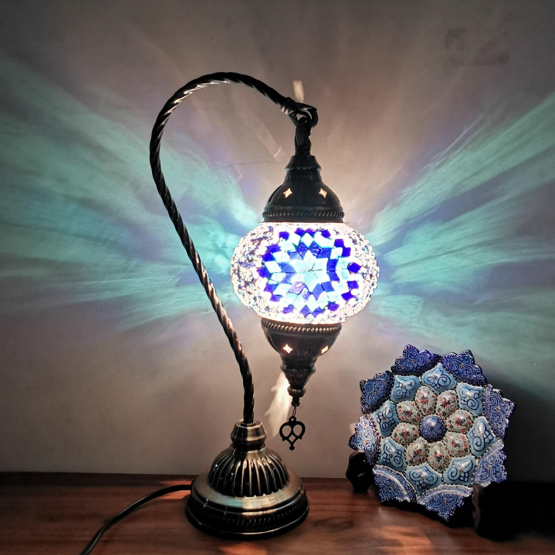 Средиземноморский декоративный светодиодный светильник, настольная лампа, бар, отель, спальня, восстановление древних способов, маленькие ...