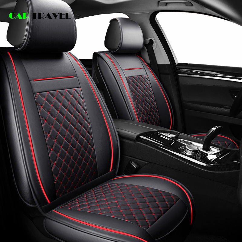 ( Front + Rear ) Luxury Leather car <font><b>seat</b></font> <font><b>cover</b></font> 4 Season For <font><b>Peugeot</b></font> 205 <font><b>206</b></font> 207 2008 3008 301 306 307 308 405 406 407 automobile image