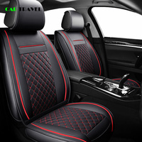 ( Front + Rear ) Luxury Leather car seat cover 4 Season For Peugeot 205 206 207 2008 3008 301 306 307 308 405 406 407 automobile