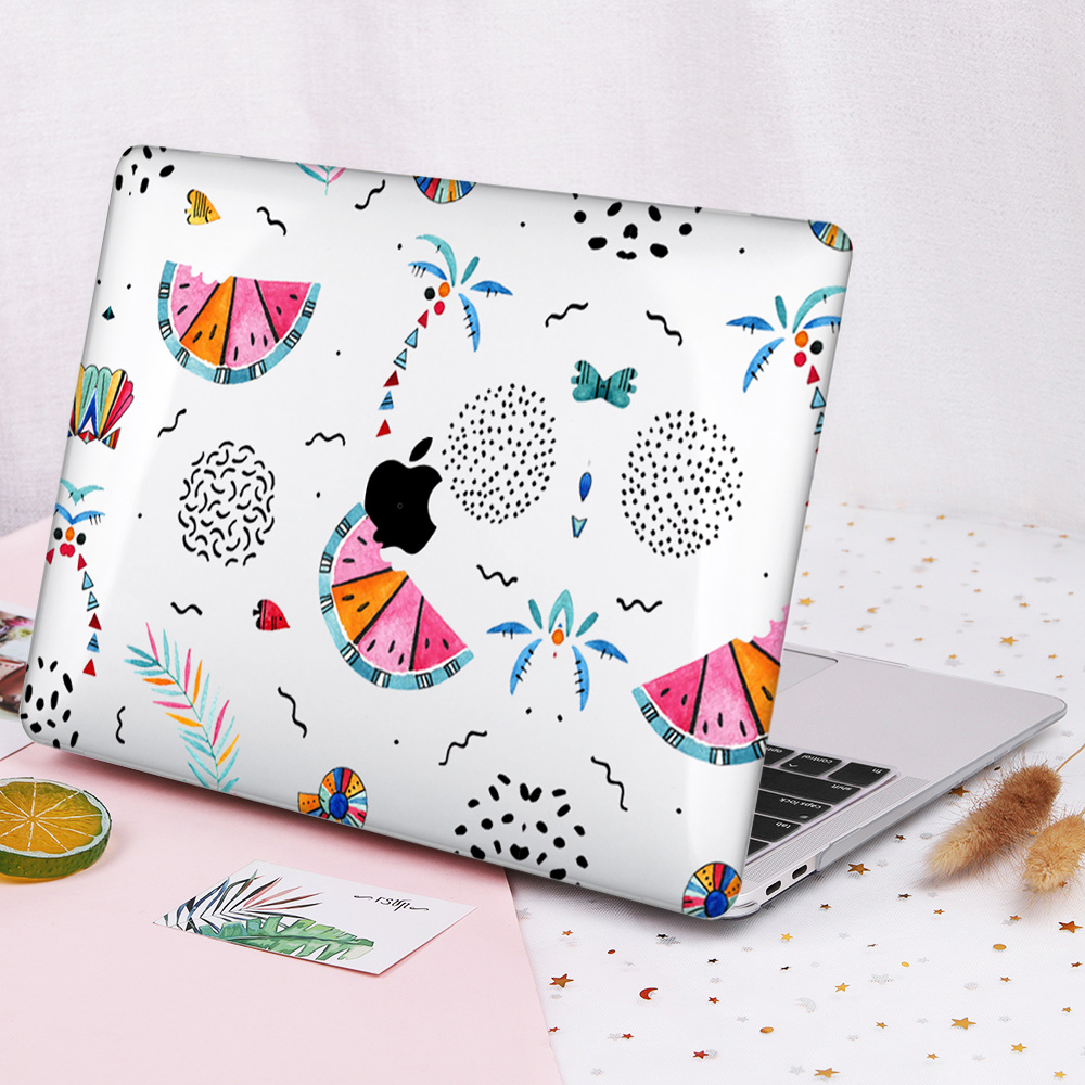Plastic Hard Case Cover for MacBook 12 Air Pro Retina 11 13 15 for Mac Book New Pro 13.3 15.4 Touch Bar A2159 Summer Pattern-B031-New Air 13 A1932
