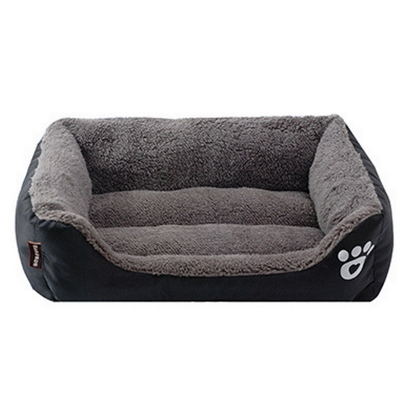 S-3XL 10 Colors Paw Pet Sofa Dog Beds Waterproof Bottom Soft Fleece Warm Cat Bed House Petshop cama perro 16