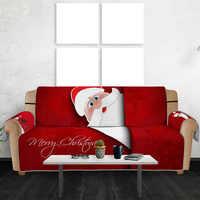 3D Navidad Santa Claus conjunto cubre sofá Cubiertas Para sofá funda sofá toalla accesorios de decoración del hogar